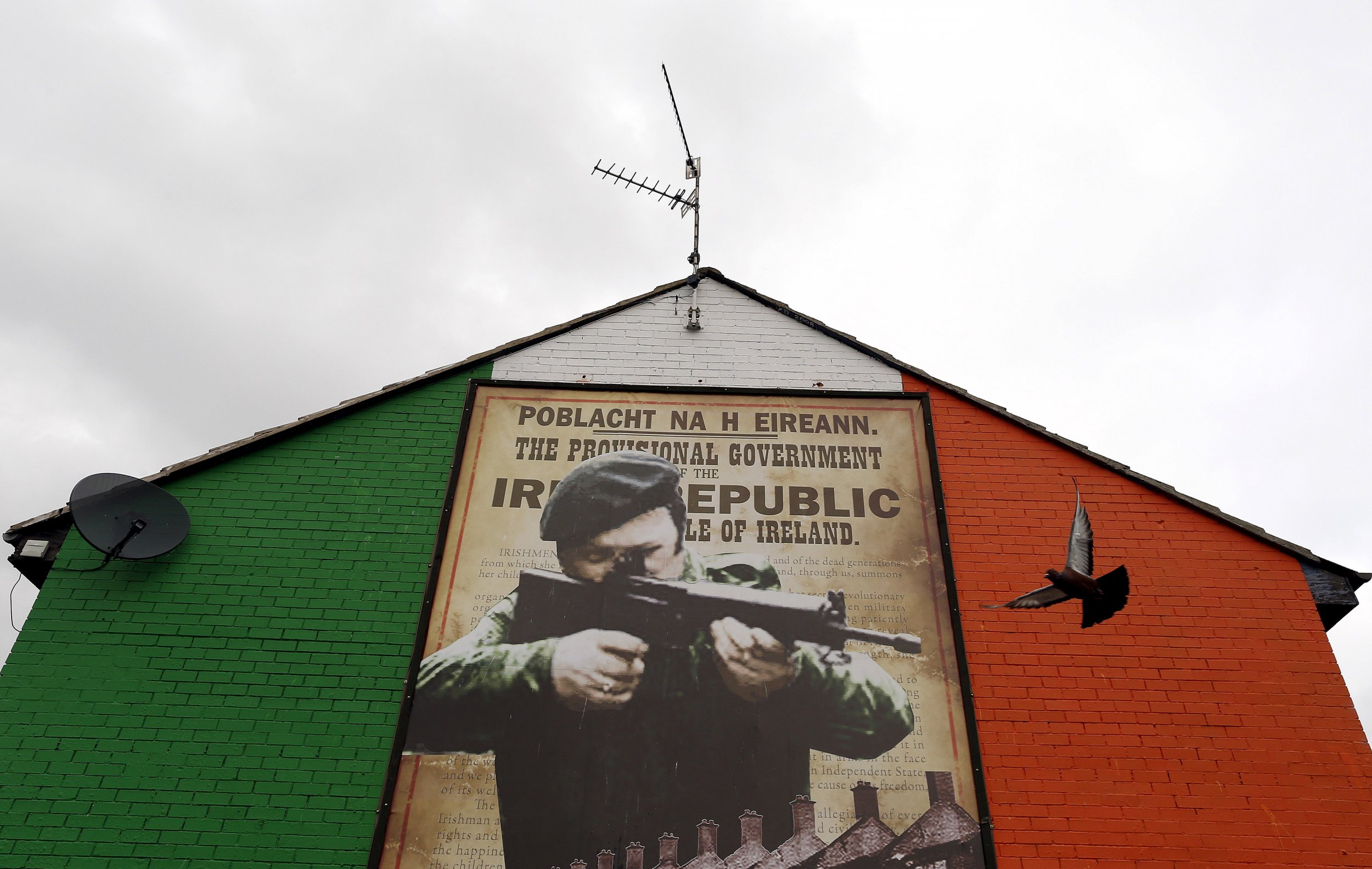 Mural supporting the IRA