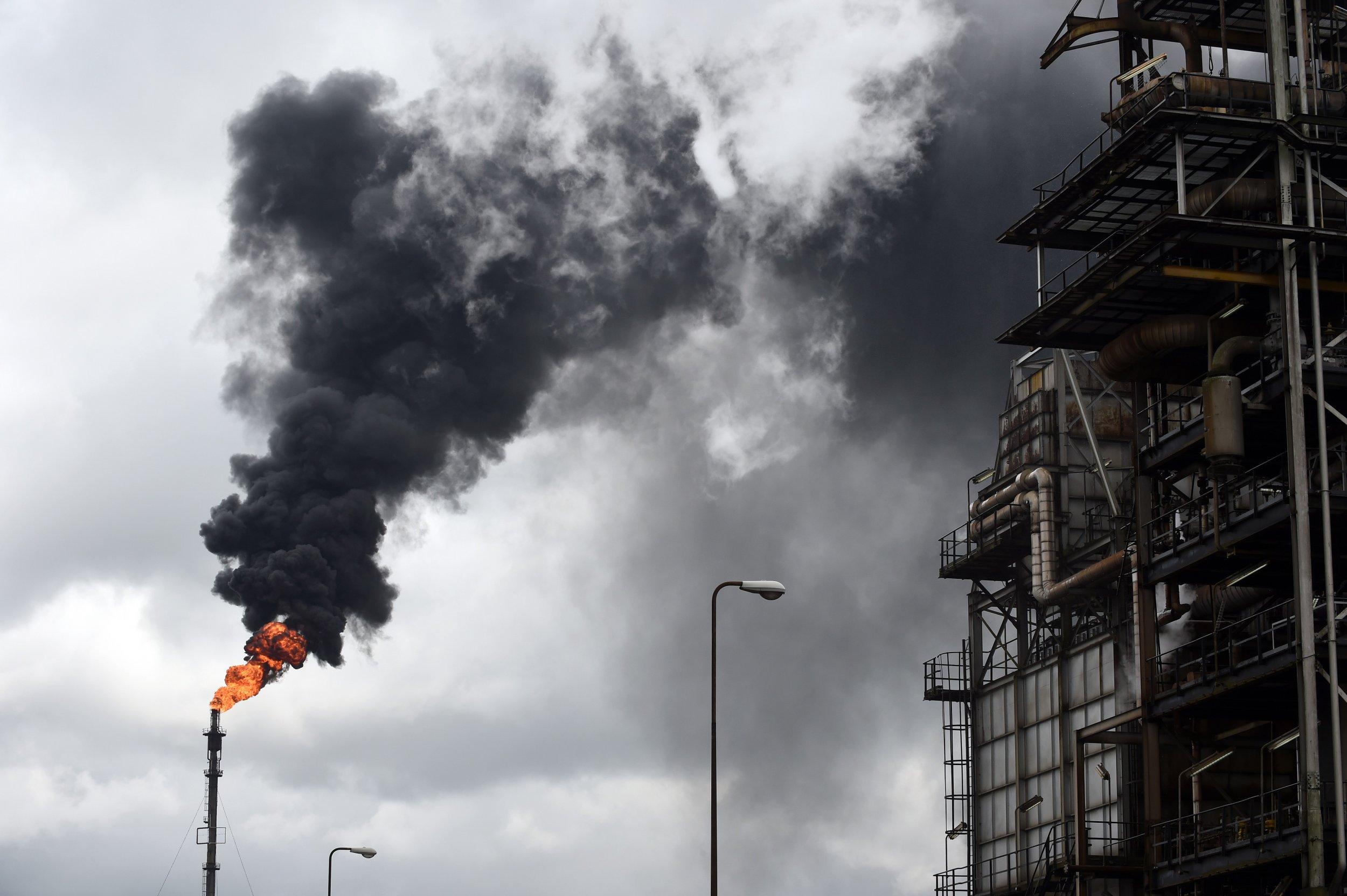 Niger Delta oil refinery.