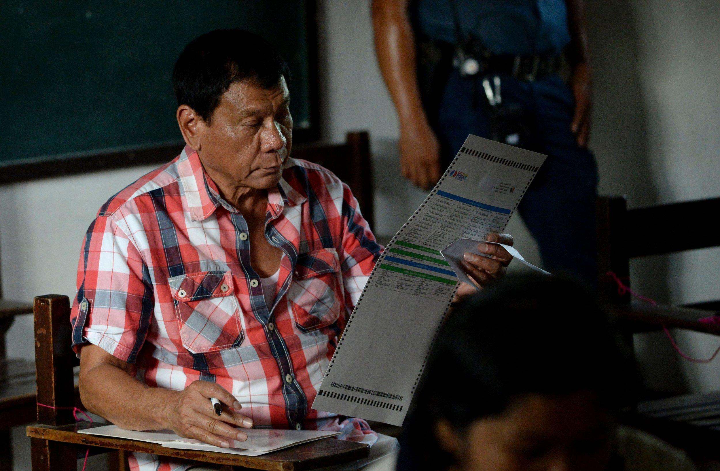 New Filipino president Rodrigo Duterte.