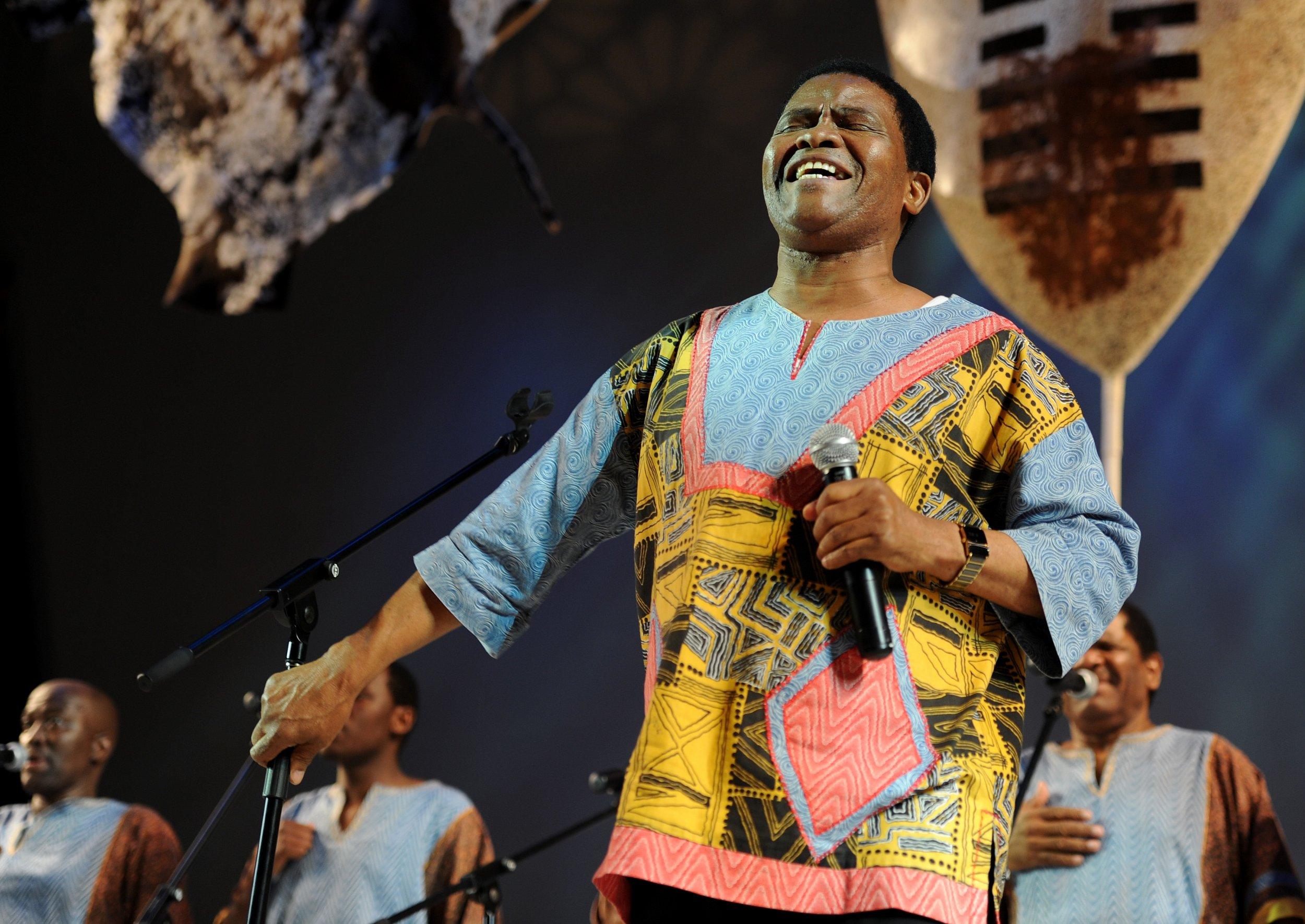 Ladysmith Black Mambazo perform in Durban