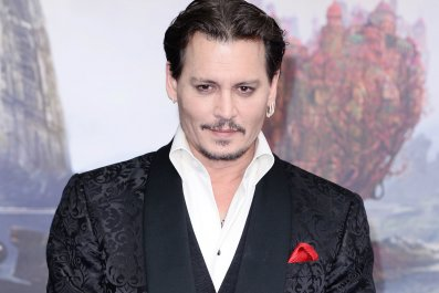 Johnny Depp at Alice Through the Looking Glass premiere