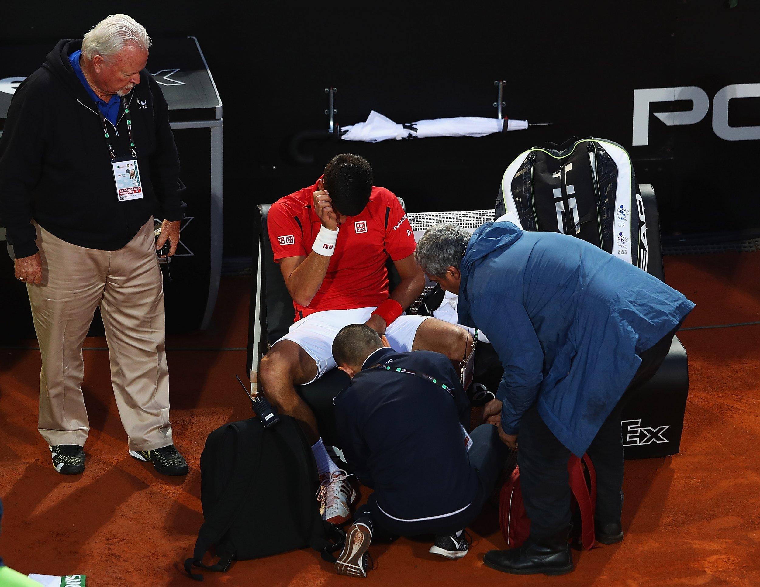 Novak Djokovic at the Italian Open final
