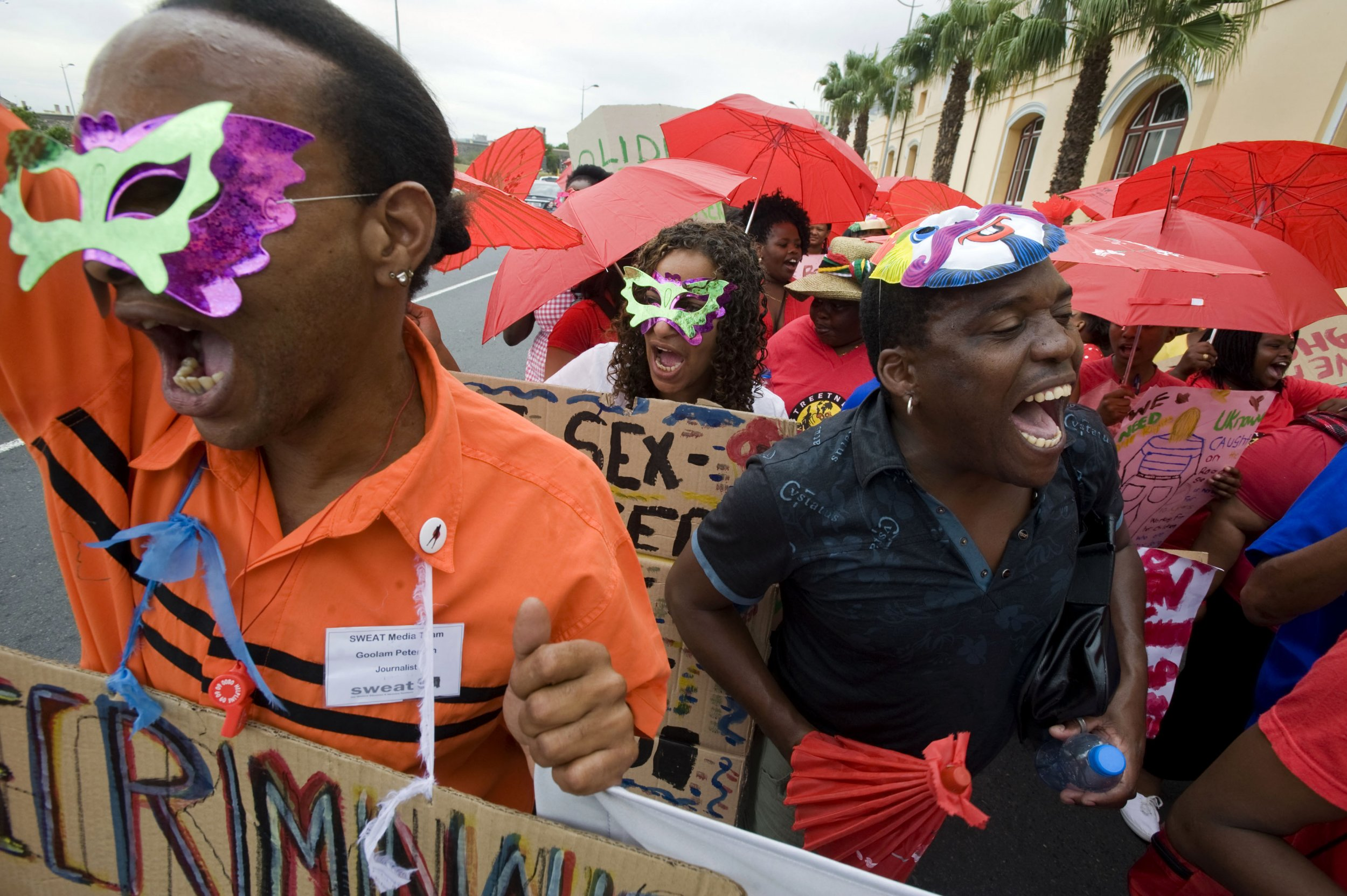 Sex workers march in Cape Town
