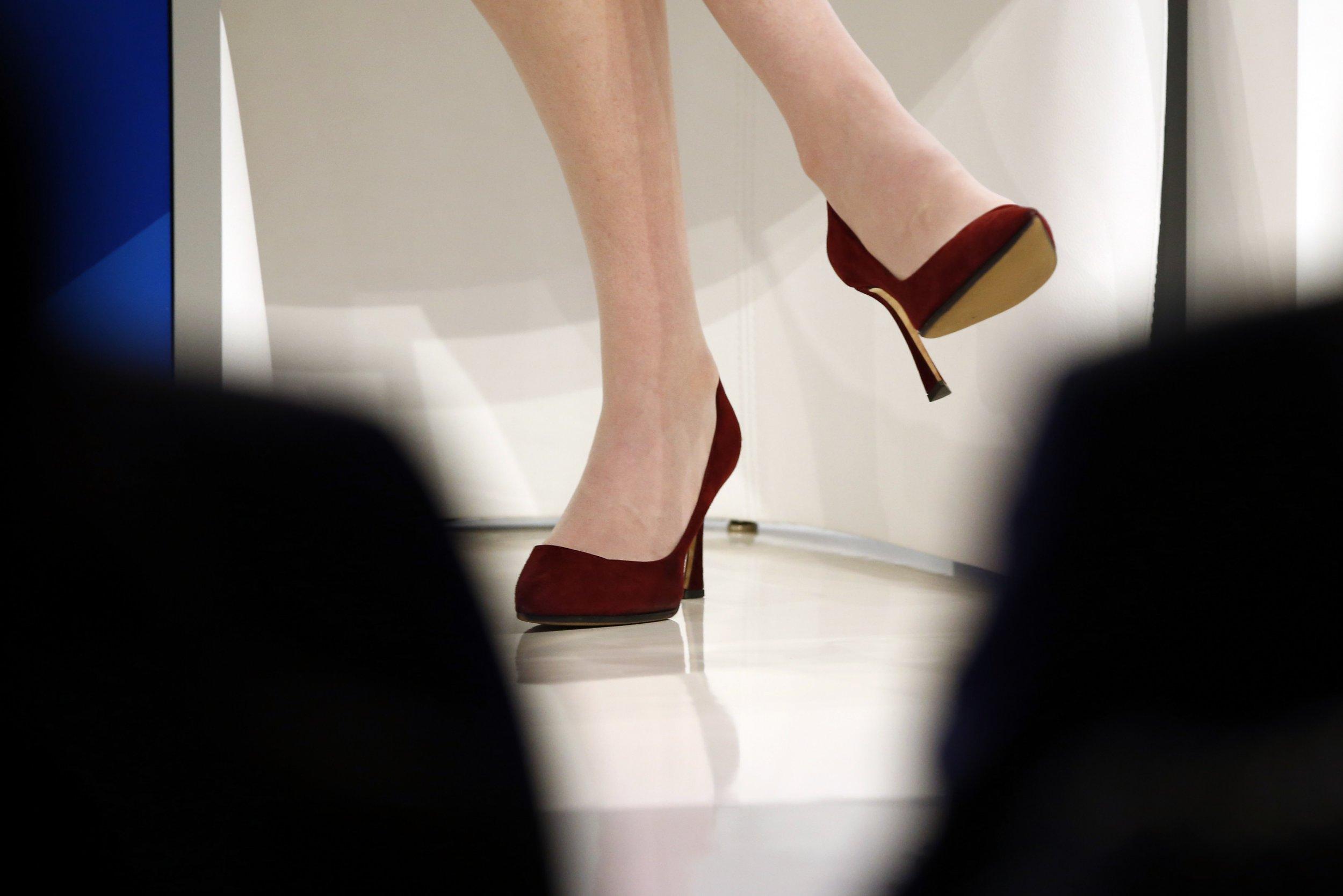 Sheryl Sandberg's high heels