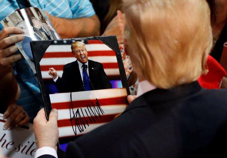 Donald Trump Signs Autographs