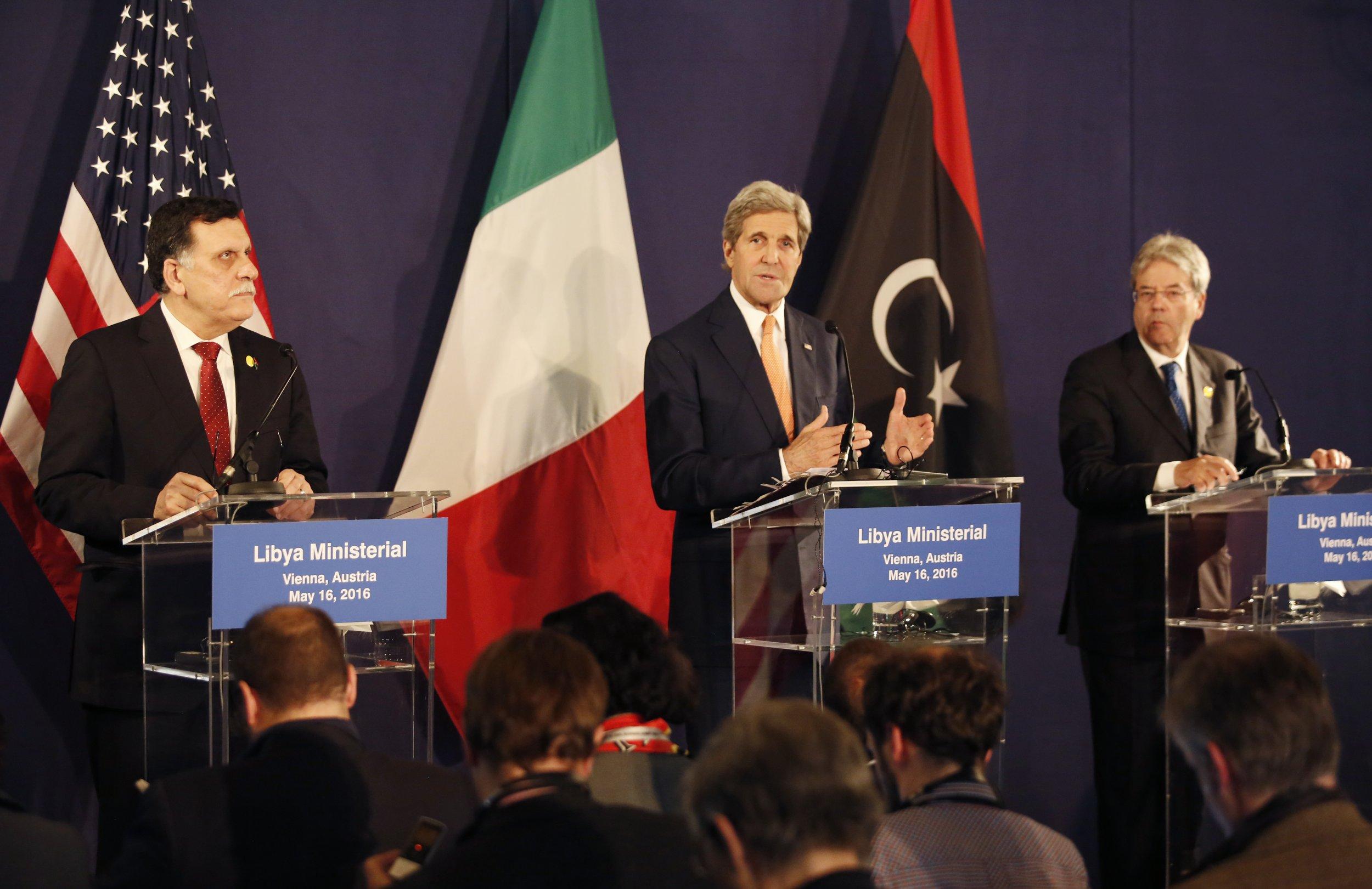 John Kerry and others at Vienna talks on Libya