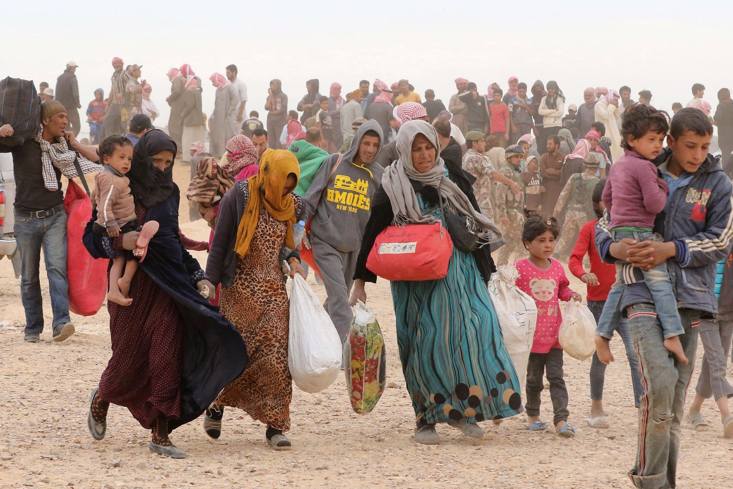 Syrian Refugees in the desert