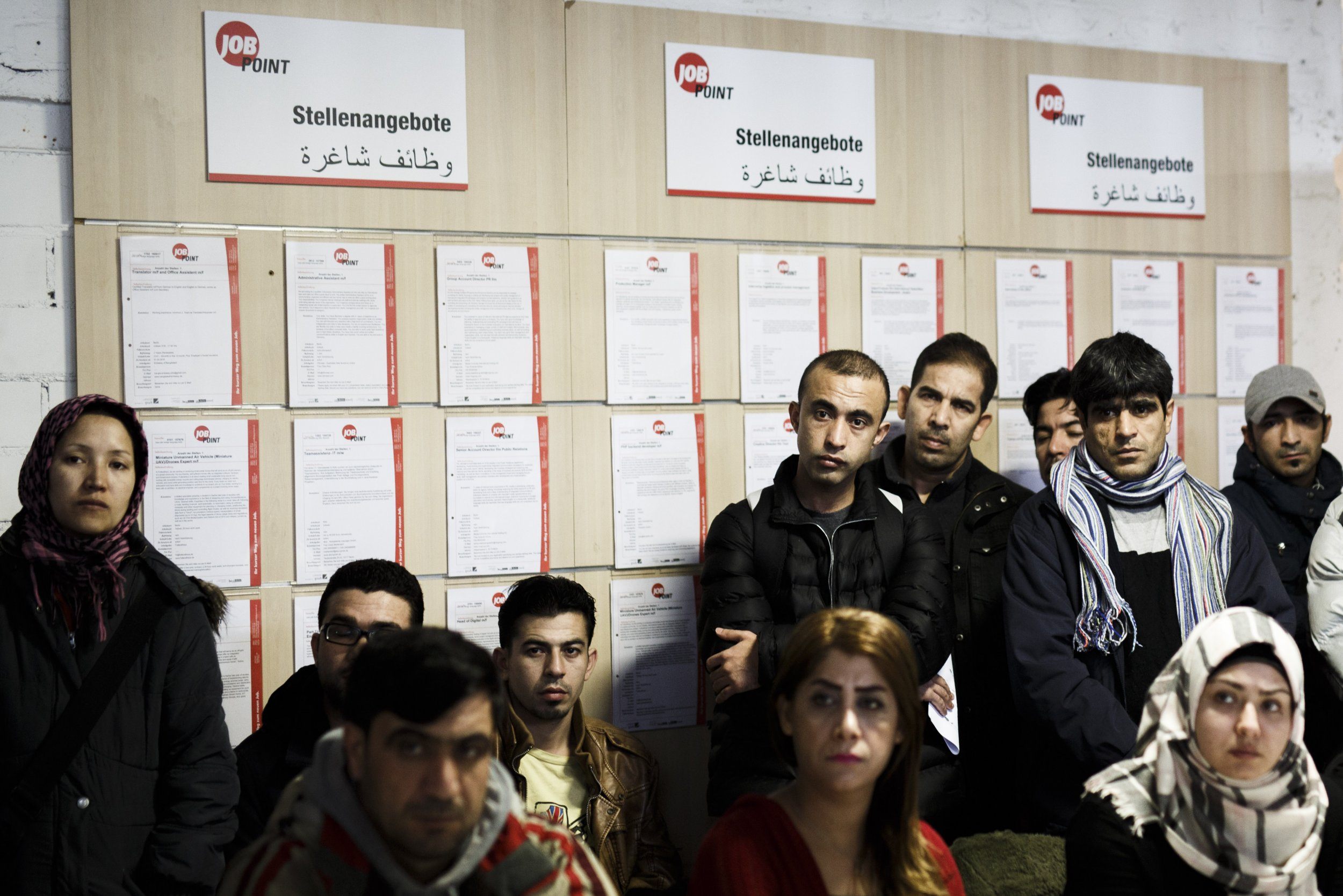 Refugees receiving job counseling