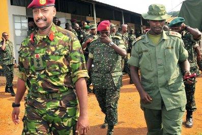 Muhoozi Kainerugaba, the son of Ugandan President Yoweri Museveni.