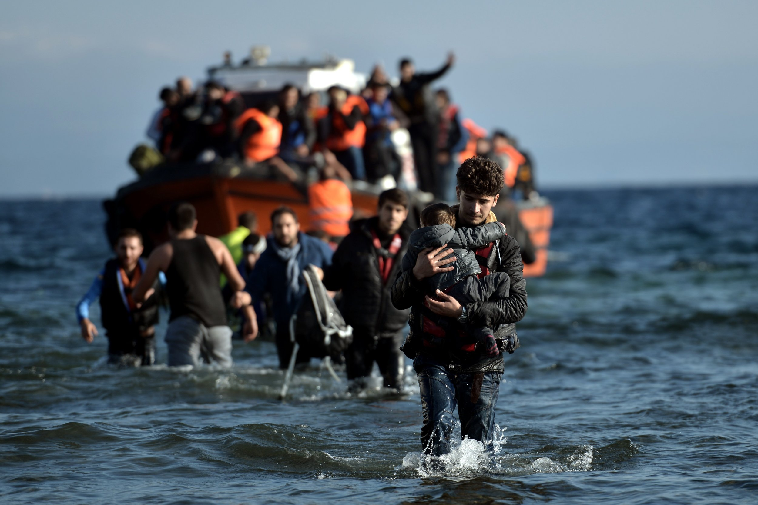 Refugees in Aegean Sea