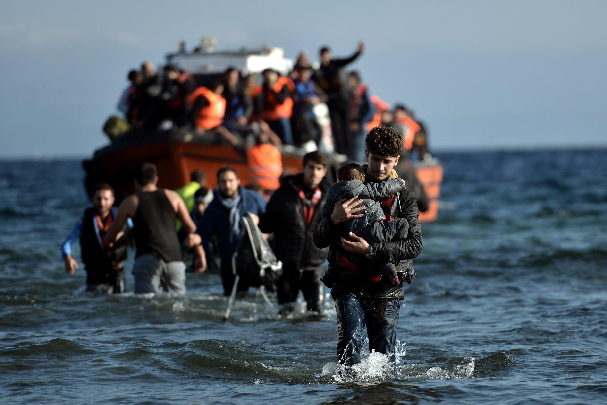 Refugees in Aegean Sea