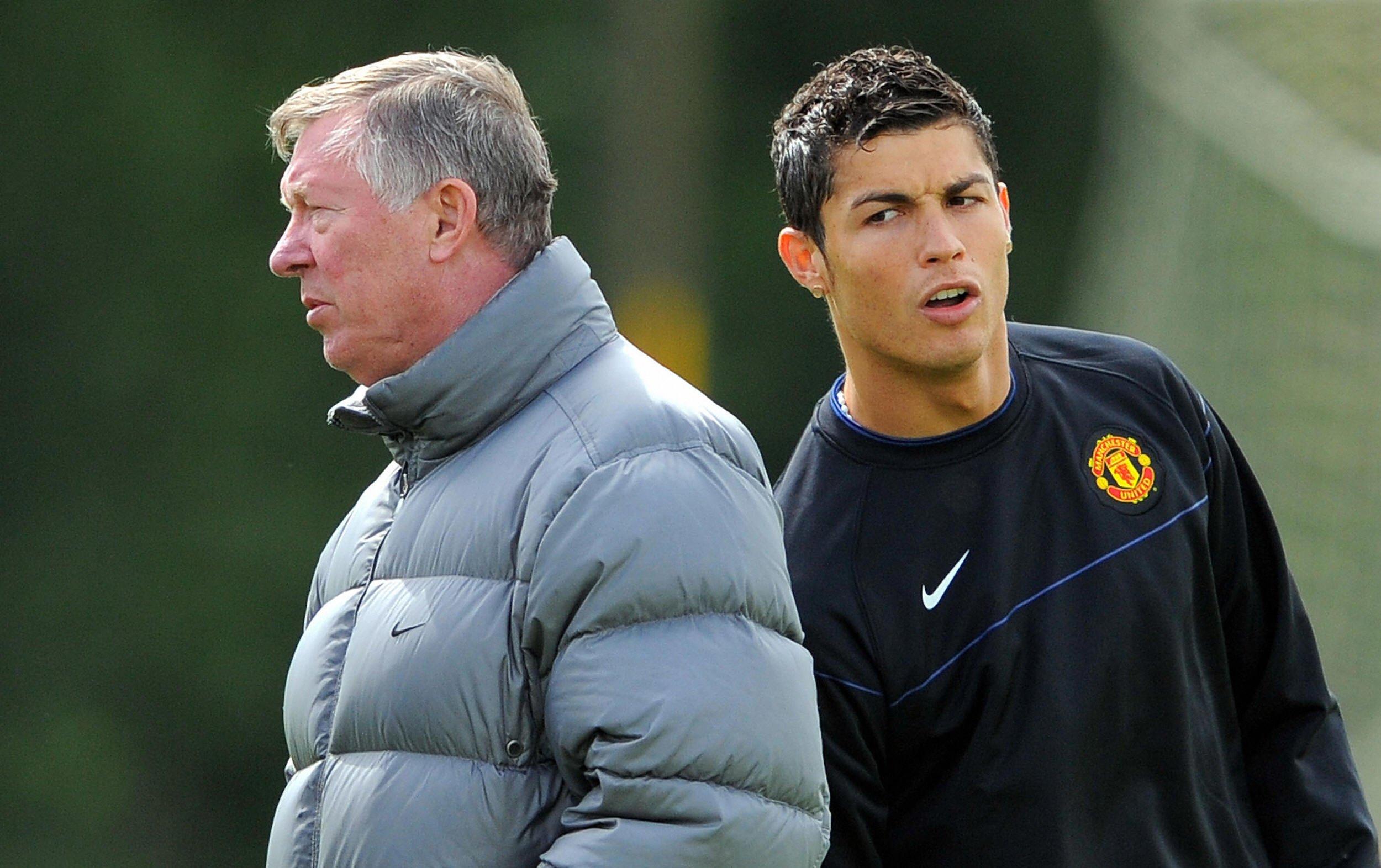 Sir Alex Ferguson, left, with former Manchester United star Cristiano Ronaldo.