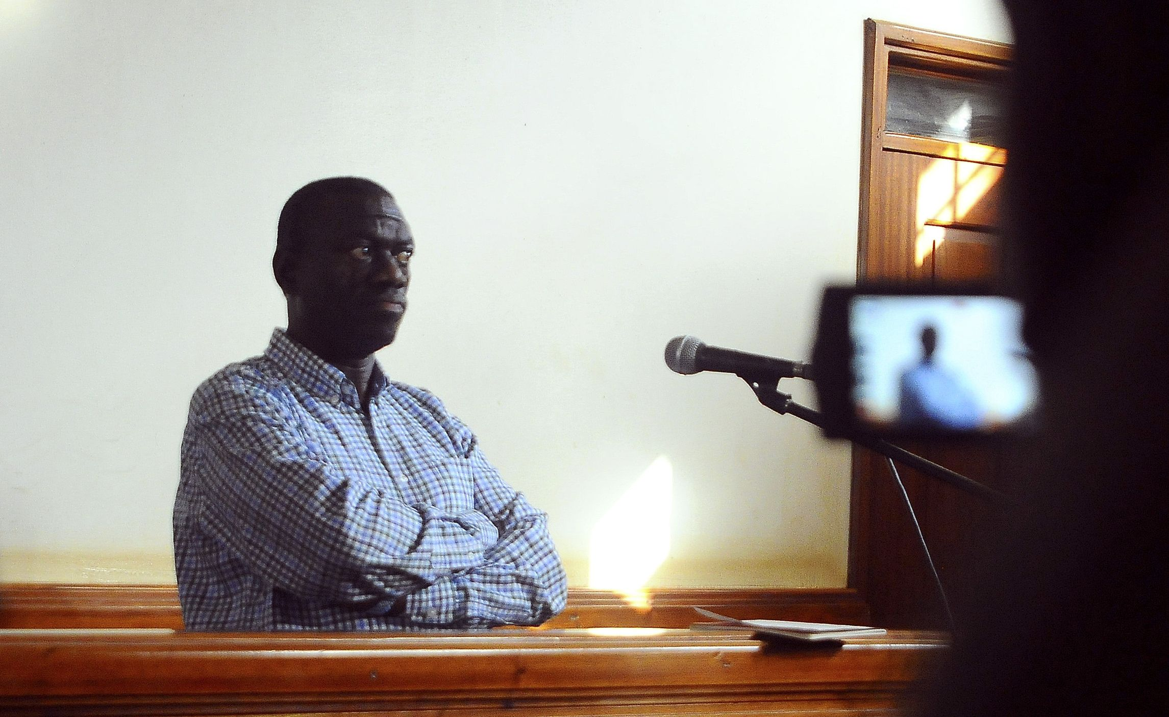 Kizza Besigye in court.