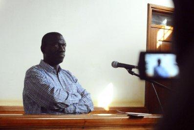 Kizza Besigye in court.