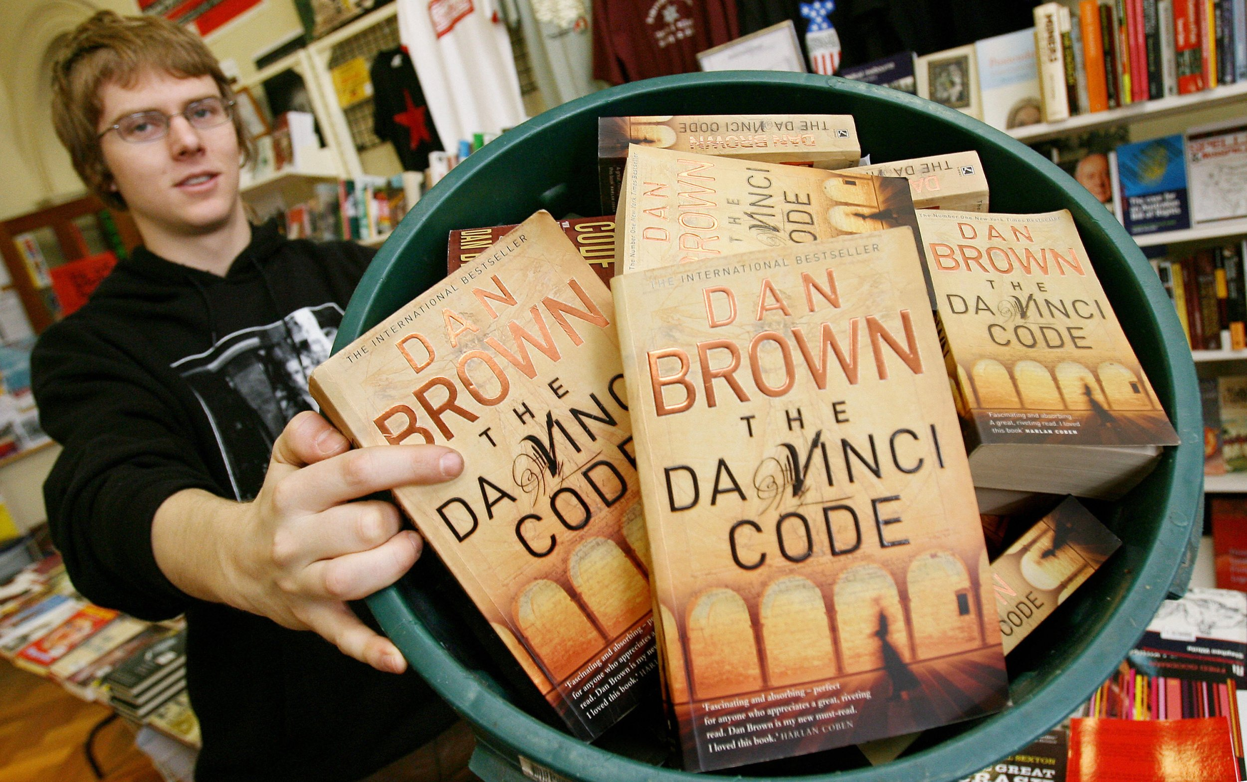 dan brown is releasing a young adult da vinci code and no one s  copies of the da vinci code by dan brown the book will be republished for a young adult audience in william west afp getty