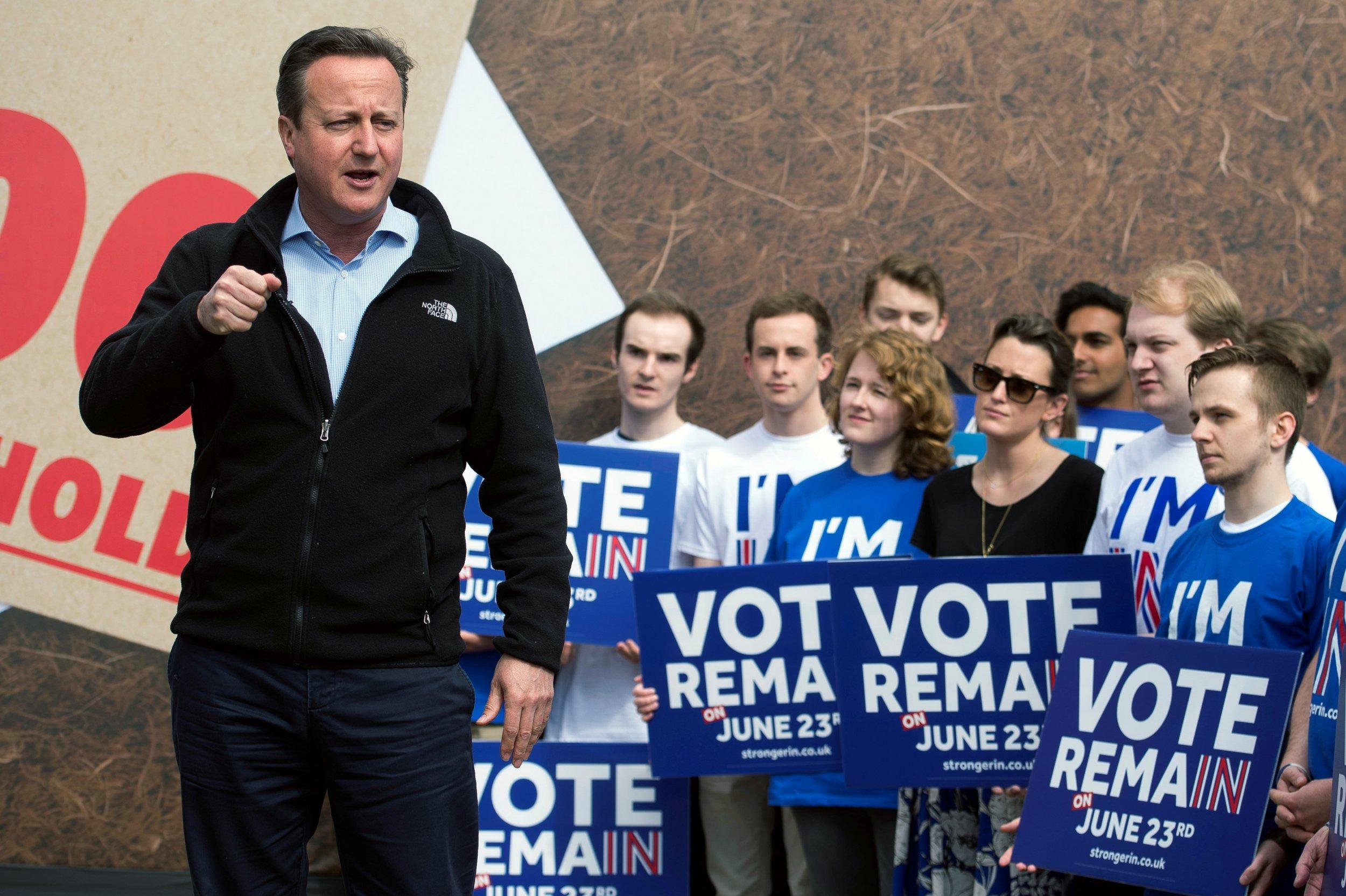 David Cameron on the campaign trail