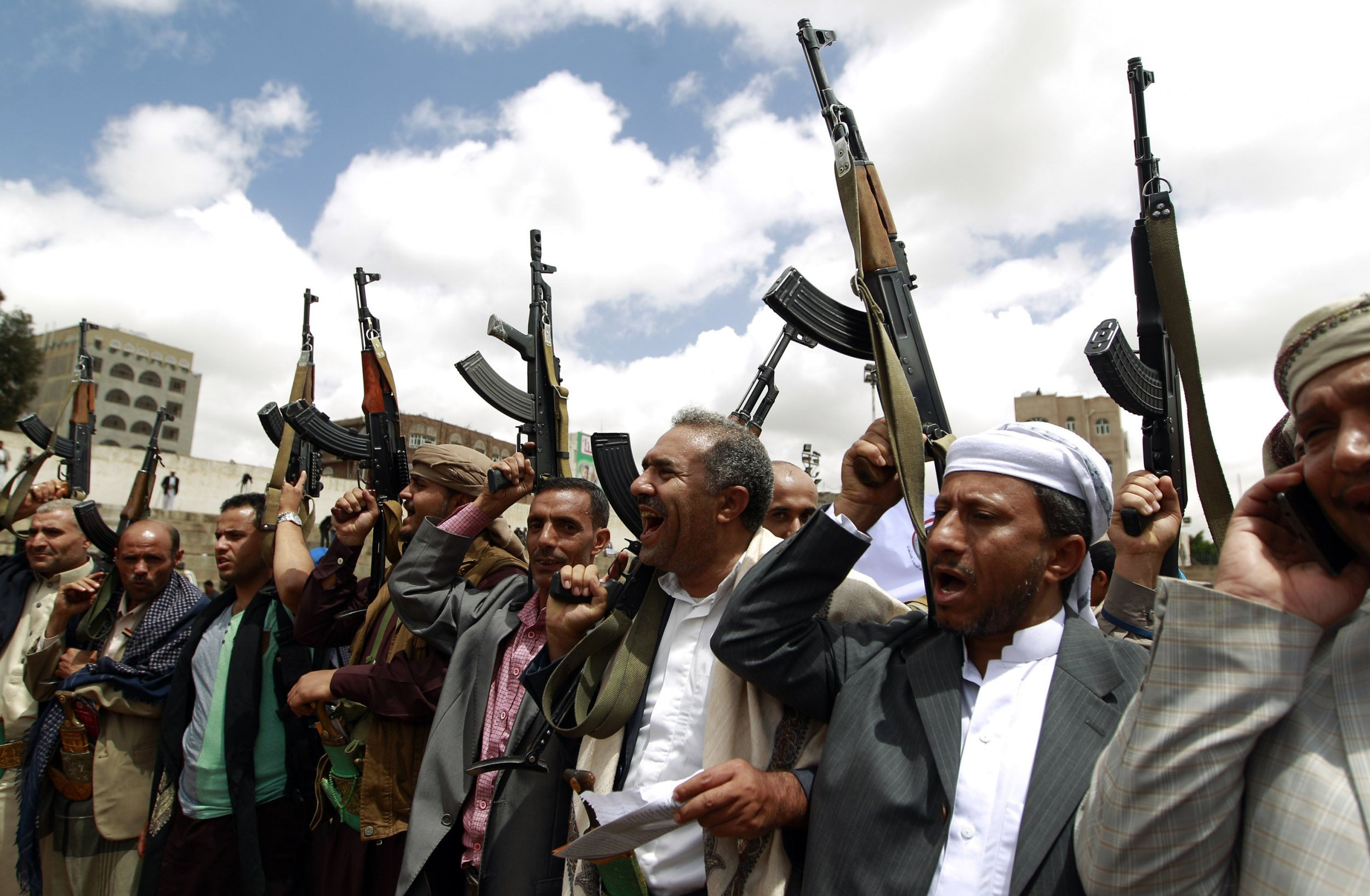 Houthi supporters in Yemen