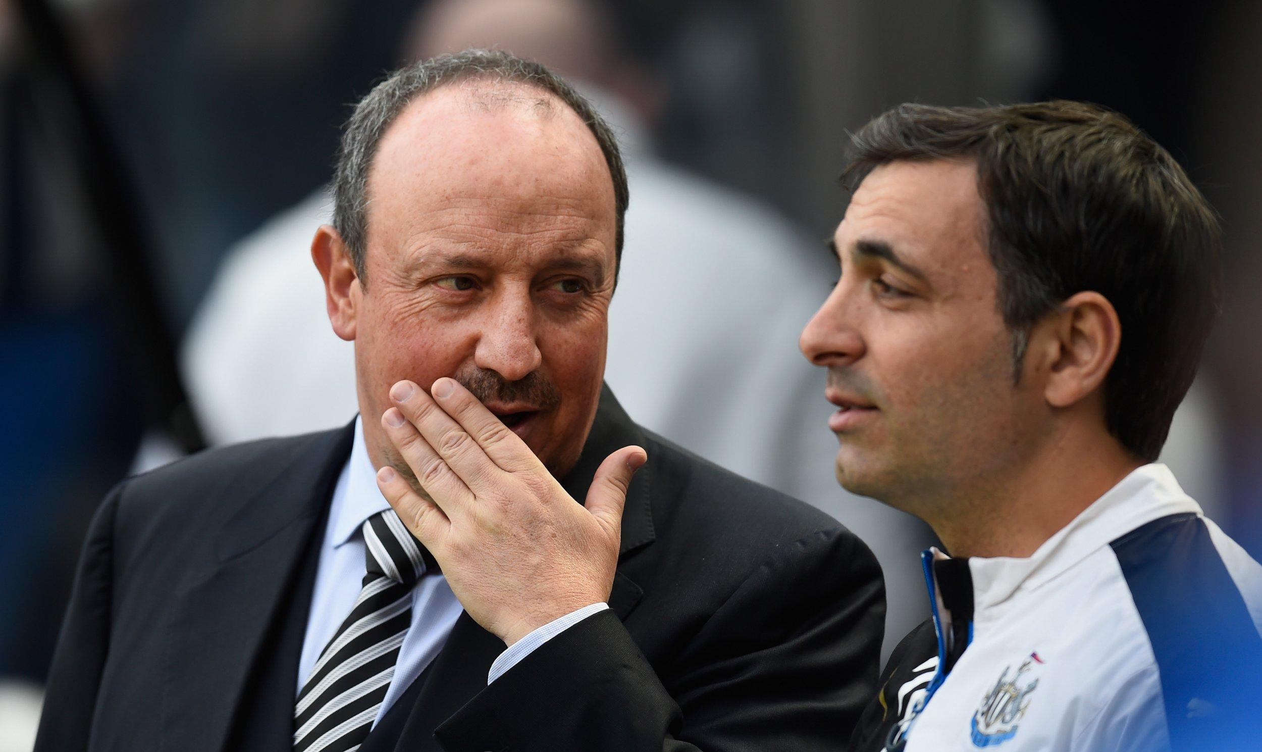 Newcastle United manager Rafael Benitez, left.