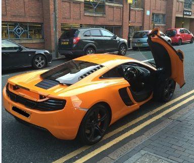 Mclaren supercar in Birmingham, U.K.