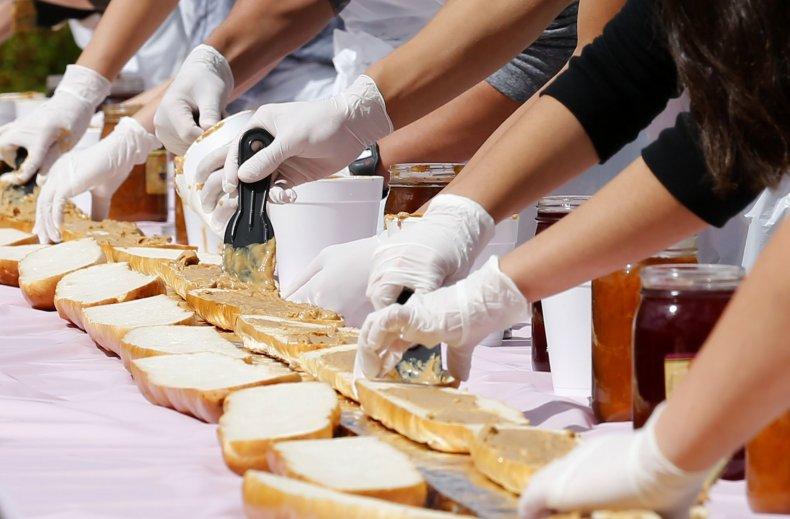Peanut sandwiches