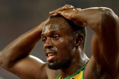 100 metres world record holder Usain Bolt.