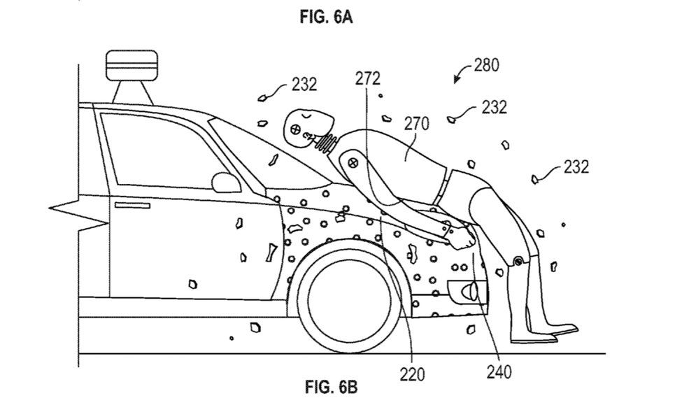 google self-driving car patent crash