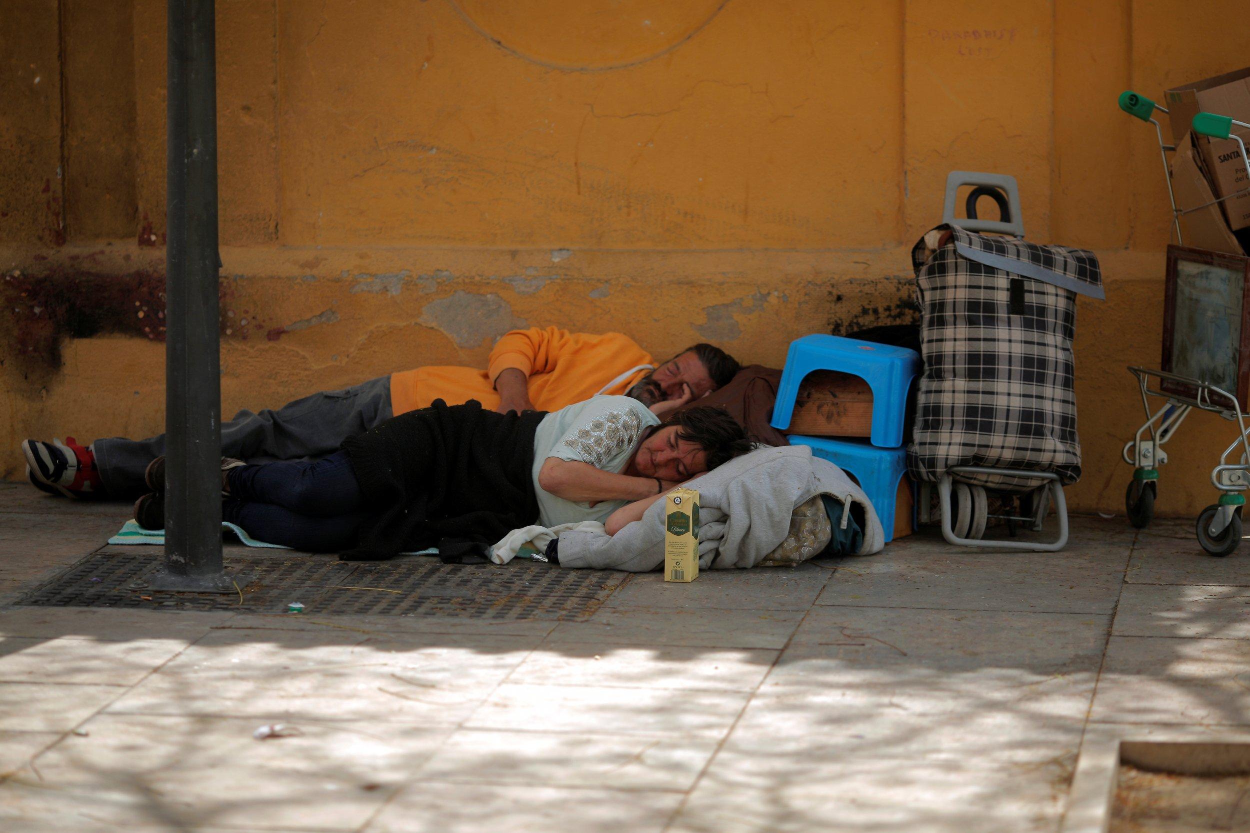 Homeless people in Malaga