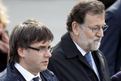 Carles Puigdemont and Mariano Rajoy