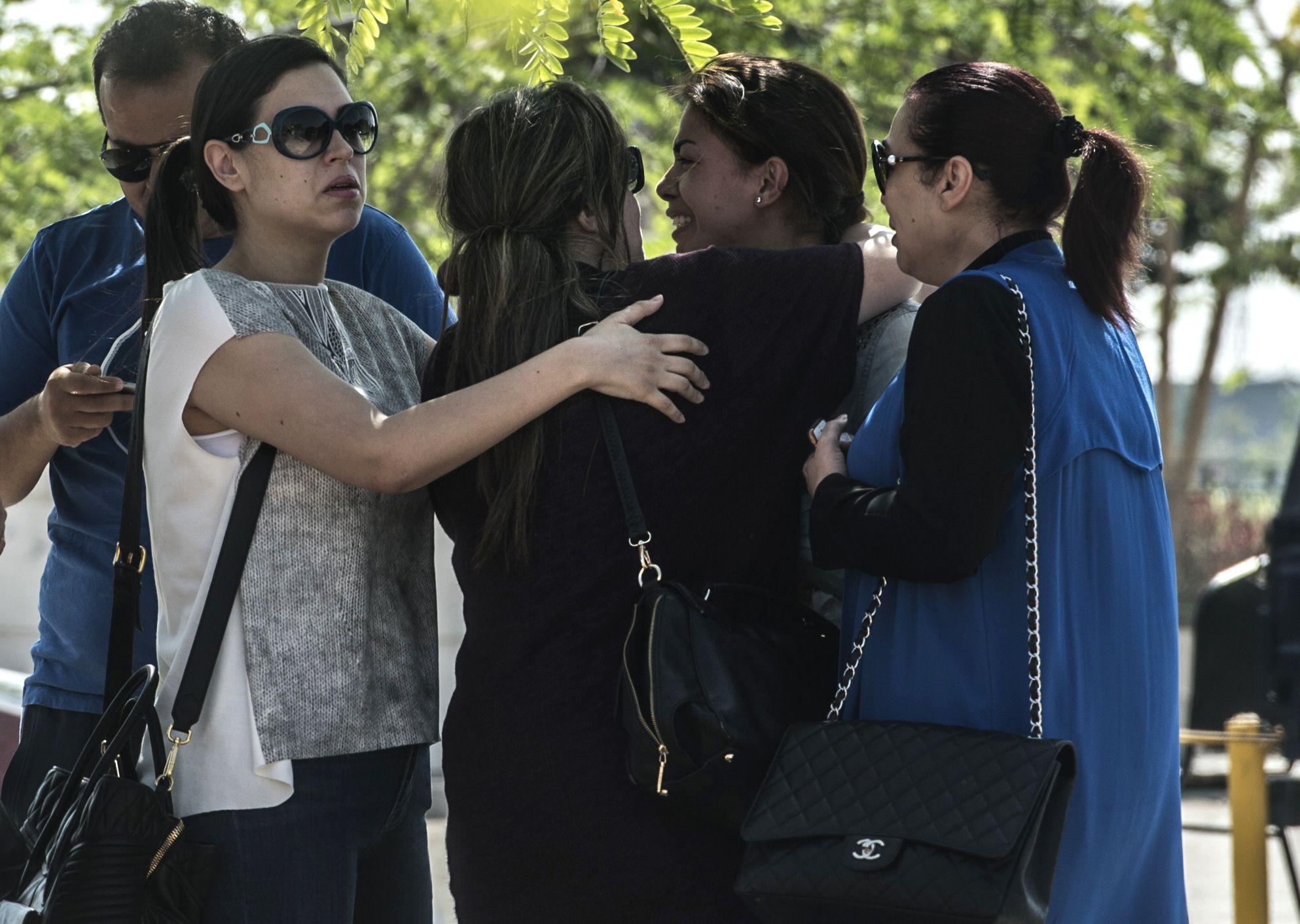 Relatives of EgyptAir flight passengers