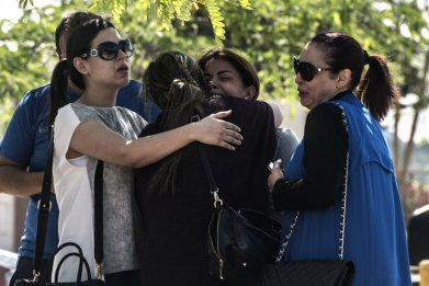 Families of people on EgyptAir flight MS804