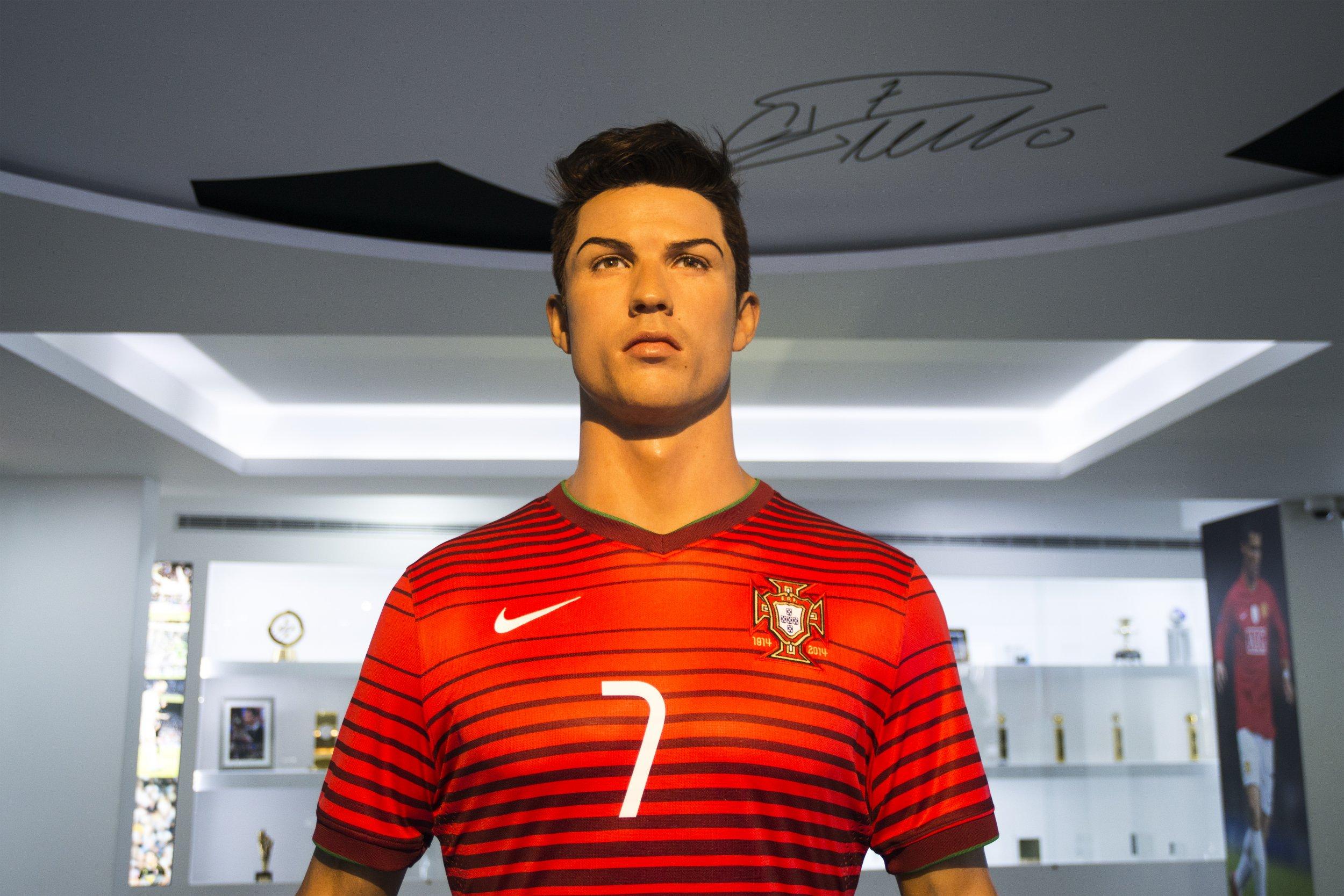 A bust of Portuguese footballer Cristiano Ronaldo.