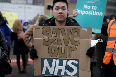 NHS protester