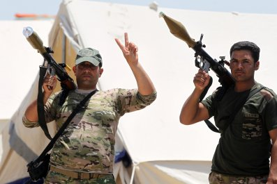 Iraqi security forces on outskirts of Fallujah