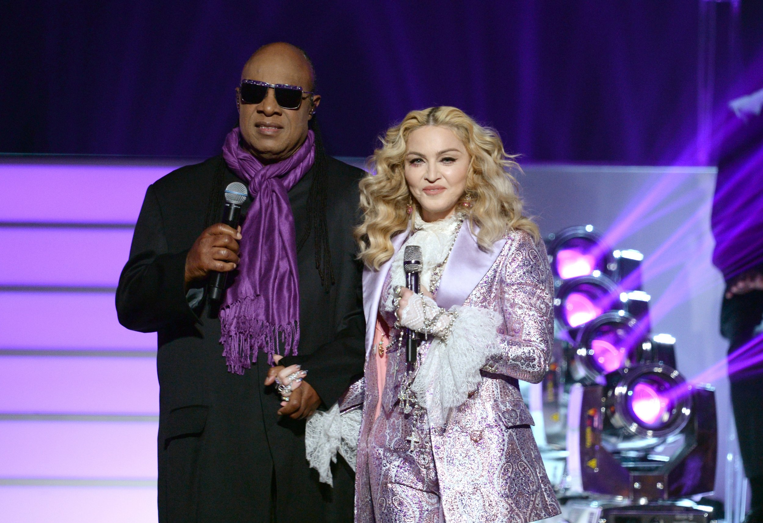 Prince tribute by Madonna and Stevie Wonder
