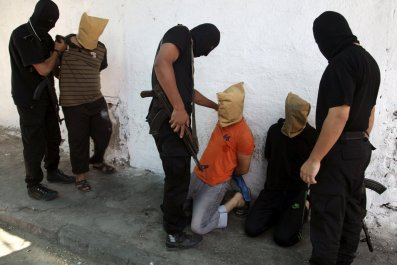Hamas militants before executions