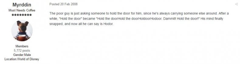 Game of Thrones fan predicts Hodor meaning