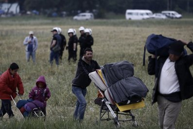 Refugees in Idomeni, Greece