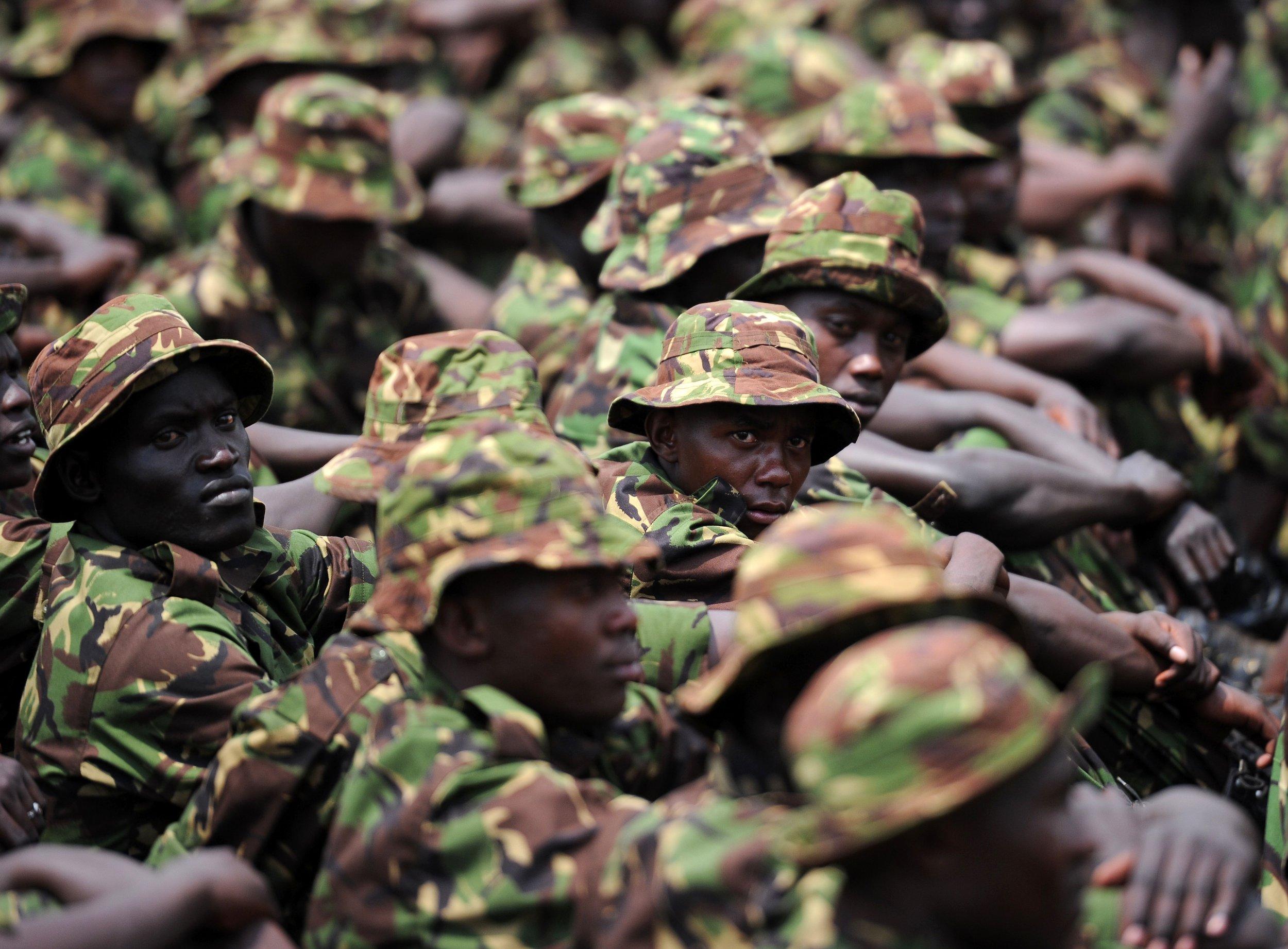 Kenyan soldiers in Somalia