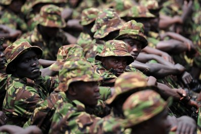 Kenyan soldiers in Somalia