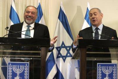 Avigdor Lieberman and Benjamin Netanyahu