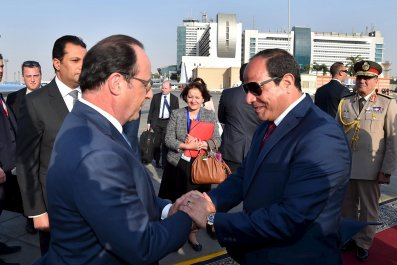 Hollande and Sisi
