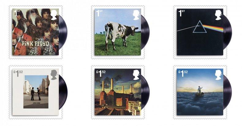 Pink Floyd Stamps full set