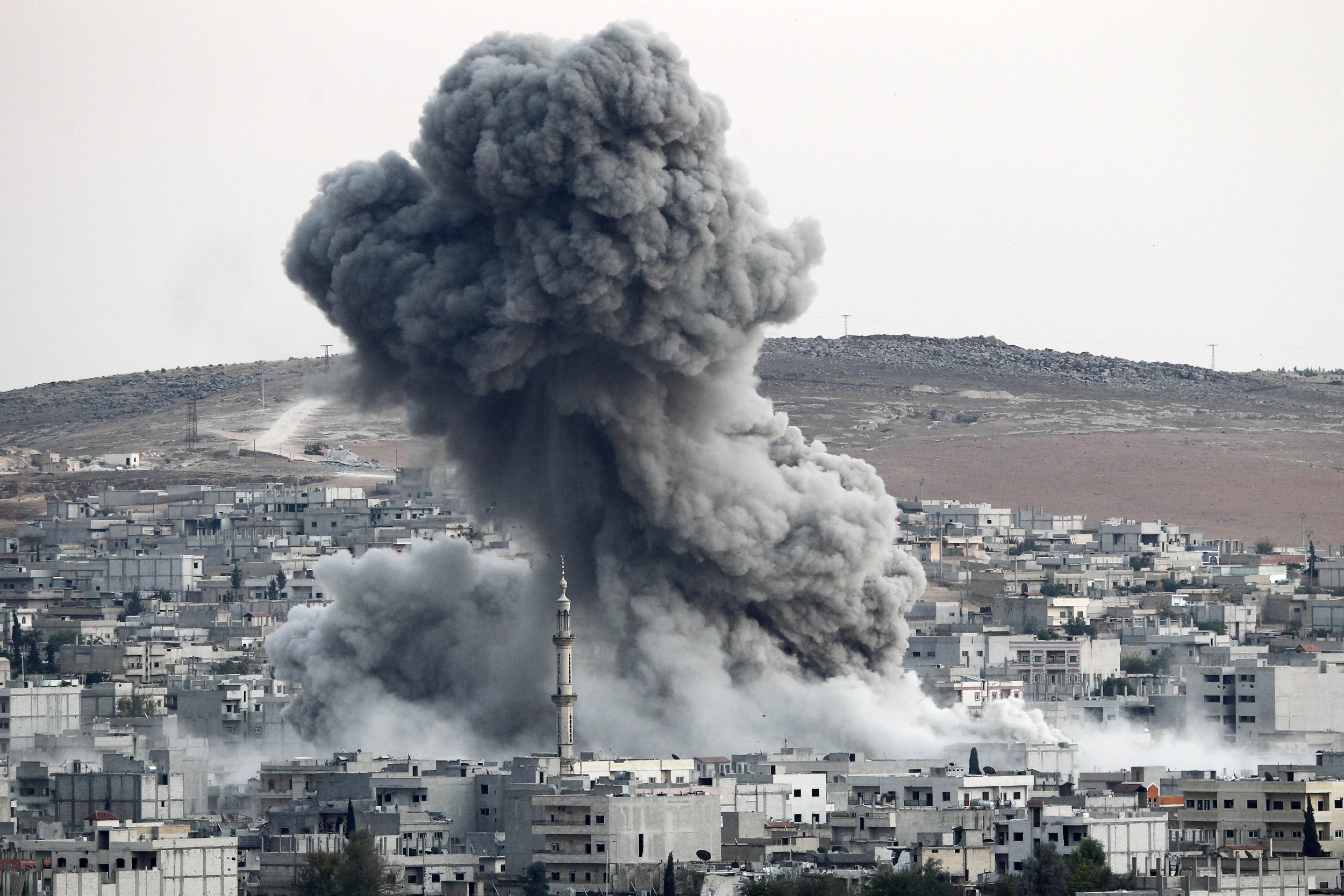 Coalition air strike on ISIS in Syria