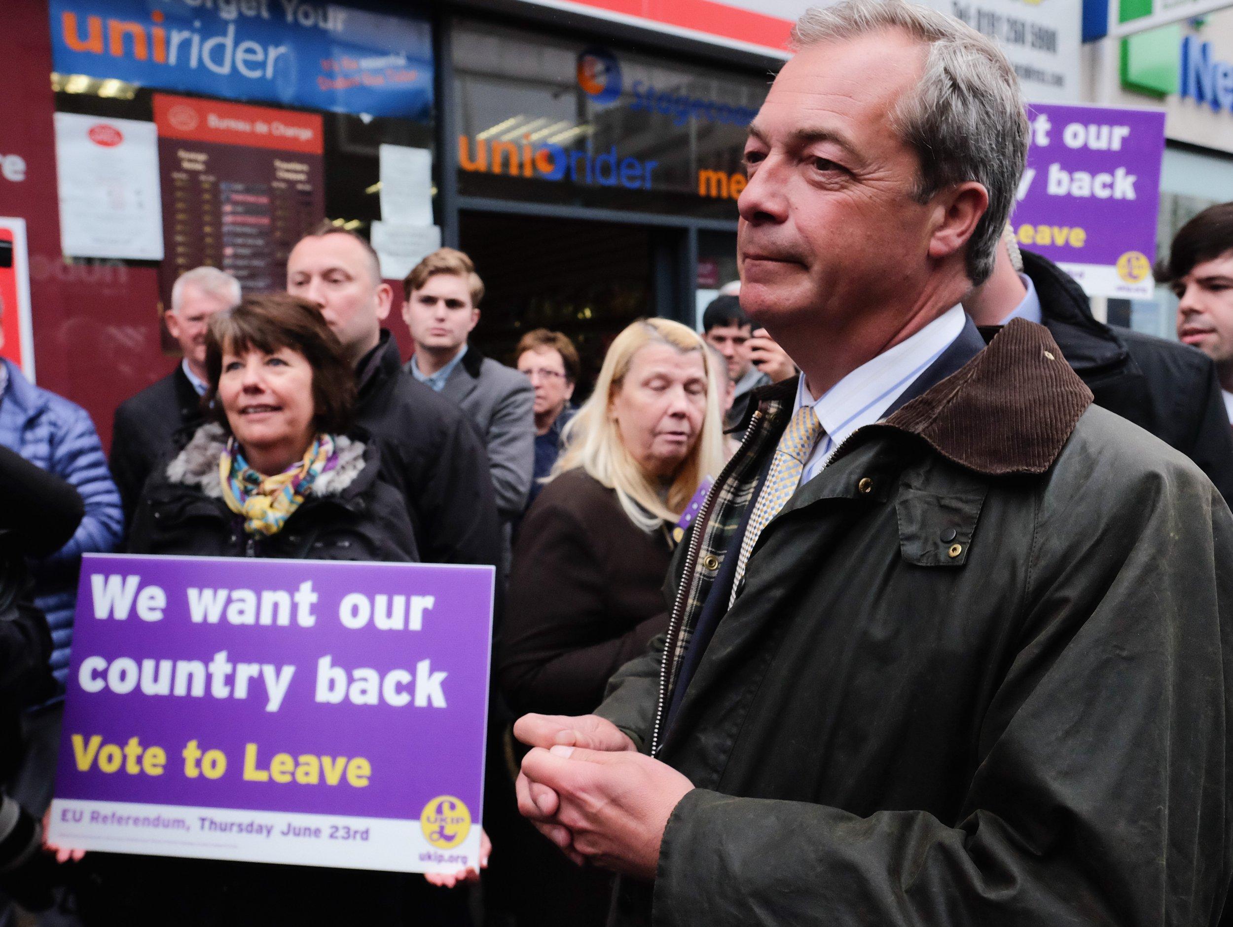 Vote Leave and Nigel Farage