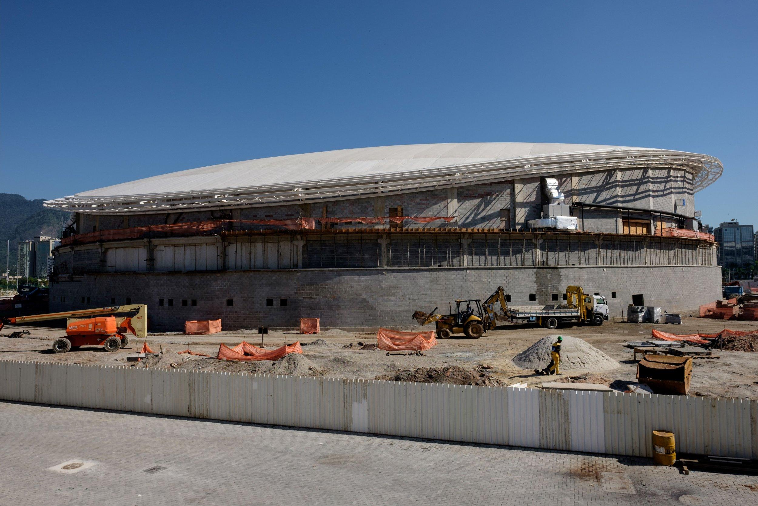 The Olympic velodrome in Rio de Janeiro.