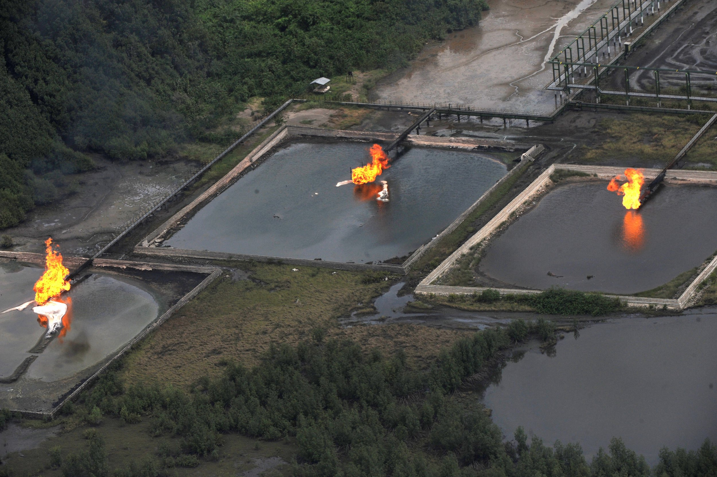 Niger Delta gas flare.