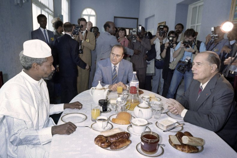 Hissene Habre meets French prime minister and president.
