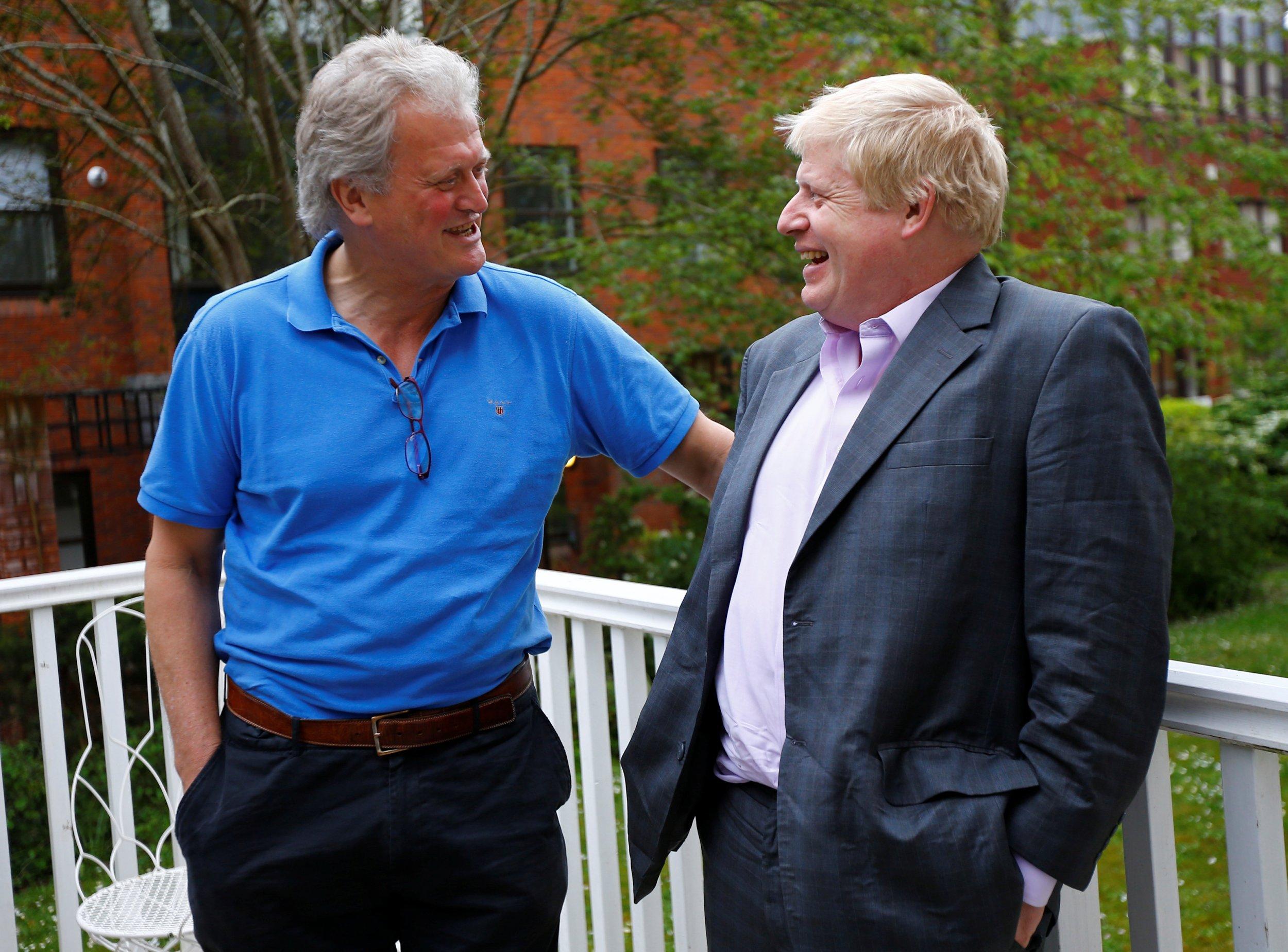 Tim Martin (L) and Boris Johnson