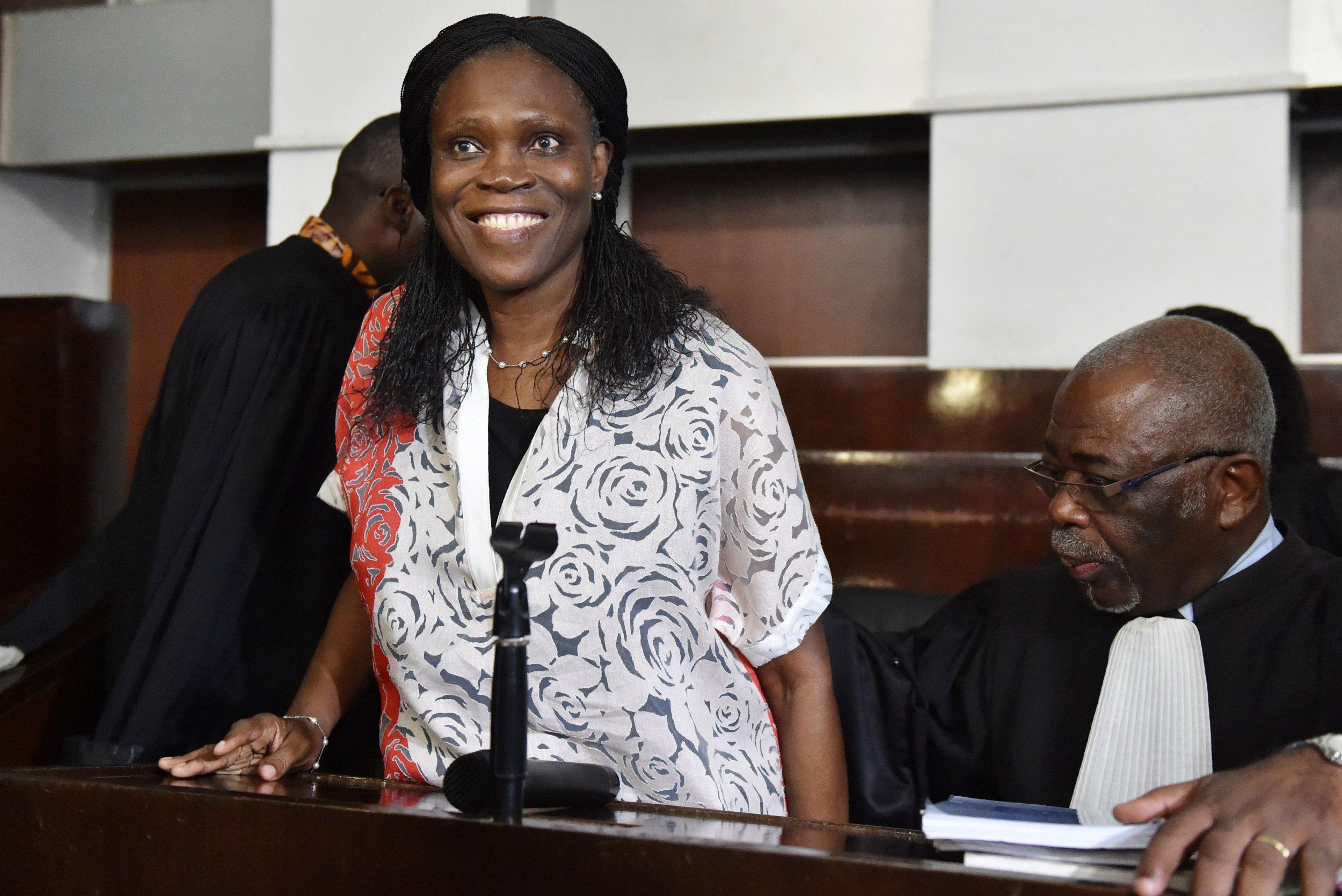 Ivory Coast's Simone Gbagbo in court.