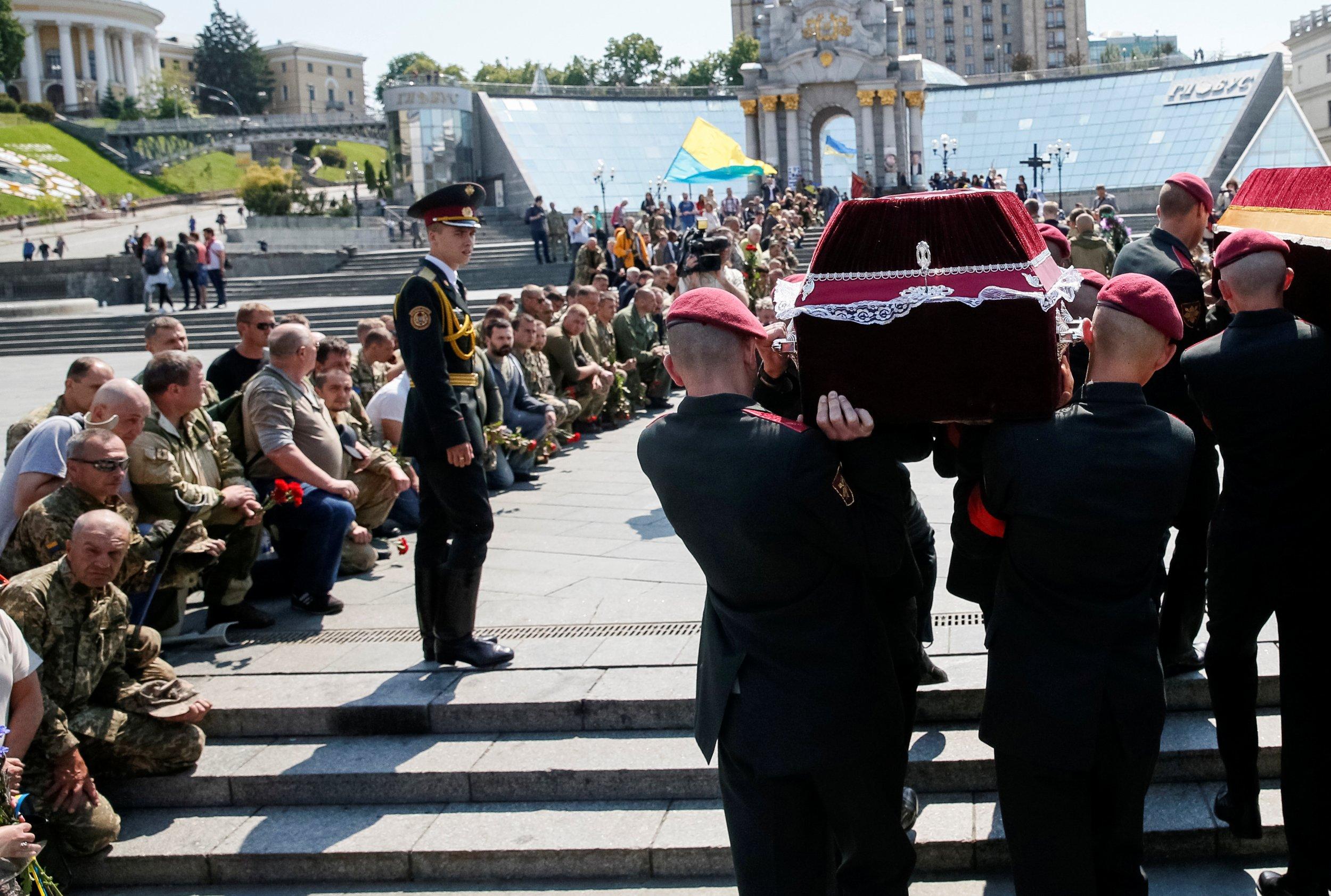 Ukrainian serviceman's funeral